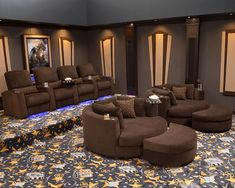 Aspen Swivel Cuddle Seat Package: Aspen Home Theater Chairs and Swivel Cuddle Seats, Bella Fabric Black, Chocolate or Red Home Theater Basement, Home Cinema Room, Basement Bar Designs, Home Bar Designs, Home Theater Rooms, Home Theater Seating, Home Theater Design, Basement Ideas, Theater Seats