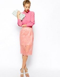 Browse online for the newest ASOS Pencil Skirt with Sheer Layer and Floral Embroidery styles. Shop easier with ASOS' multiple payments and return options (Ts&Cs apply). Asos, Color Me Beautiful, Fashion Lighting, Occasion Wear, Floral Embroidery, Classic Style, Spring Fashion, Lace Skirt, Fashion Online