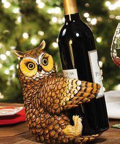 #Owl Wine Bottle Holder