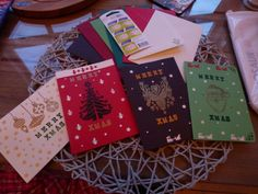Xmas cards- embossing