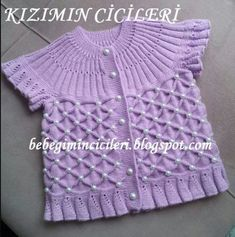 Knitted Boys And Girls Baby Sweater, Vest Cardigan Patterns - Knitting, Crochet Love - Diy Crafts - hadido Baby Knitting, Crochet Baby, Knit Crochet, Knitting Dolls Clothes, Doll Clothes, Diy Crafts Knitting, Baby Pullover, Baby Vest, Cardigan Pattern
