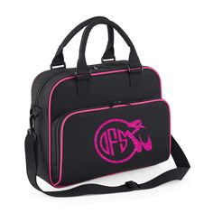 Personalised Free Black Inspired Creative Design/® Girls Gymnastics Sports Bag Holdall White or Black Perfect for your Kit