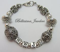 Bellissima Jewelers What Would Jesus Do Silver Bracelet - Beautiful Reminder