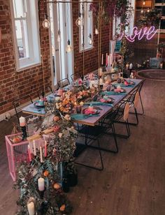 This Urban Elopement Brings the Electricity with this Pastel Palette! This Urban Elopement Brings the Electricity with this Pastel Palette! Electric Pastel Wedding Inspiration Tablescape with Pink and Turquoise. Wedding Themes, Wedding Tips, Wedding Table, Wedding Planning, Dream Wedding, Wedding Decorations, Wedding Day, Spring Wedding, Wedding Receptions