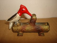 Vintage 1950's SANIPIK Metal WOODPECKER by PastPossessionsOnly, $39.95