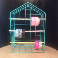 Tiger wire house+straws= washi tape holder