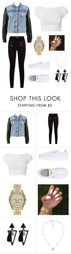 """Denim"" by drumrsrock on Polyvore featuring rag & bone, Paige Denim, Helmut Lang, Puma, Michael Kors and Gucci"
