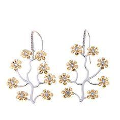 Emily & Ashley 1.39ctw White Zircon Floral Earrings #HSN