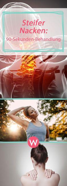 Schneller Trick gegen einen steifen Nacken: In 90 Sekunden bist du deine Schmerzen los! #gesundheit #verspannungen #stress