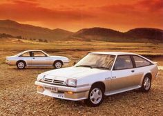 Opel Mantas, and we had both of these, a gold coloured coupe and a white hatchback. very handy for both kids and dog.