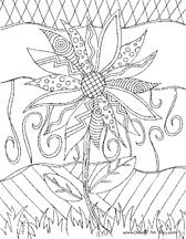nature coloring pages, sunflower coloring pages, flower coloring pages