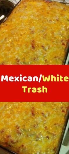 Mexican/White Trash Mexican White Trash tastes better than it sounds. Shredded chicken and Doritos combine to create an amazing flavor, it's so good! Because I can't really think of another name for it, I call it Mexican White Trash Recipe, Mexican Trash, Mexican Dishes, Mexican Food Recipes, Dinner Recipes Easy Quick, Easy Meals, Easy Recipes, Copycat Recipes