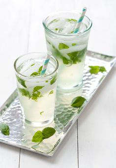 Basil Lemonade...sounds refreshing!