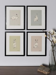 Presented in quality black composite frames, our hare prints have been beautifully illustrated using pen and ink on a coloured background with torn edges. With stunning illustrated details in four different styles, choose between Home Layout Design, Sage Bedroom, Green Ground, Home Decor Accessories, Hare, Girl Room, Wall Art Prints, Living Room Decor, Gallery Wall