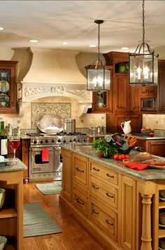 Wood stained Kitchen. Stained wood kitchens are still beautiful. #Kitchen