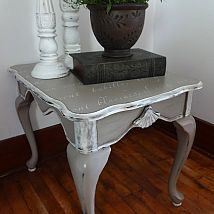 French Stenciled End Table