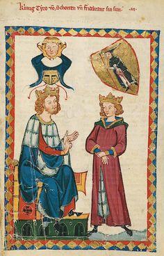Manesse Codex - (1300 - 1340) König Tyro von Schotten