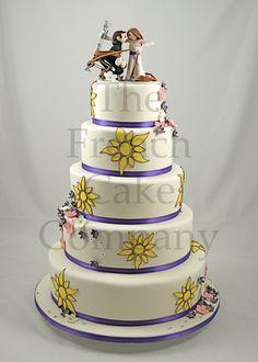 wedding cake yellow flowers piece montee mariage fleurs jaunes bruidstaart - Piece Montee Mariage