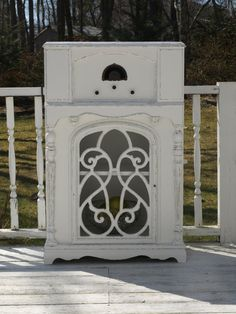 Old radio turned into a Shabby chic Cabinet via Etsy