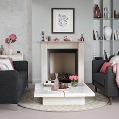 romantisches wohnzimmer-rosa-grau landhausstil | mein neues