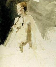 Andrew Wyeth I On Her Knees I 1973