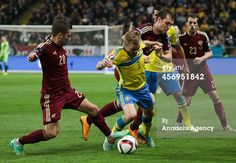Viktor Fayzulin of Russia in action against...