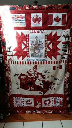 Quilting Projects, Quilting Designs, Canada Celebrations, Canadian Quilts, Quilts Canada, Happy Birthday Canada, Canada Day Party, Canada 150, Patriotic Quilts