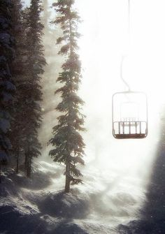A winter wind's downburst created this blinding squall, silhouetting an empty chairlift contrasted against the low winter sun. Shot at Winter Park/ Mary Jane Ski Area, Colorado Heaven Art, Winter Love, Winter Snow, Ski Lift, The Mountains Are Calling, The Great Outdoors, Fine Art Prints, Surfing, Thing 1