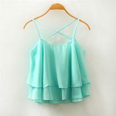 Áo hai dây nữ thời trang, màu sắc tươi sáng, kiểu dáng nữ tính giá rẻ nhất
