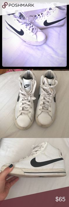 AUTHENTIC CLASSIC NIKE Size 4.5 Youth. -Fits 6-7 in women. LOVE THESE! They are such a classic Nike look. They are well loved, no rips or tears in leather or rubber. In great condition. Worn several times. These are very easy to clean. Soap, water, and an old tooth brush!  Nike Shoes Athletic Shoes