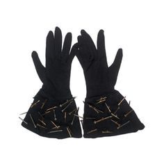 RARE VINTAGE INC. $450   1980s Patrick Kelly 'Nail' Gloves | From a collection of rare vintage accessories at https://www.1stdibs.com/fashion/accessories/accessories/