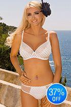 Kris Line Agnes Balconette Bra White/Black New Bra, Balconette Bra, Bikinis, Swimwear, Curvy, Lingerie, Clothing, People, Black