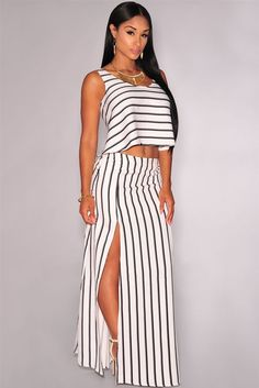 4b41d66a6b0 Off White Cropped Maxi Skirt Set Dropship Price  US  7.50 Maxi Skirt Crop  Top