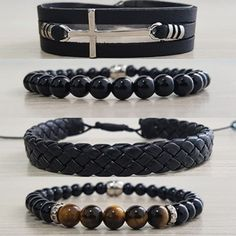 Diy Bracelets Leather Hemp 41 New Ideas Bracelets For Men, Beaded Bracelets, Diy Leather Bracelet, Adjustable Bracelet, Bracelet Sizes, Stainless Steel Bracelet, Leather Men, Jewelry Collection, Bracelet Tutorial