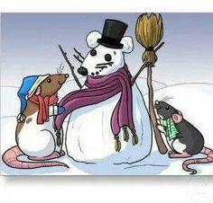 mouse-rat snowman