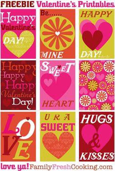 *freebie* DIY Tags, Labels & Mini Classroom Valentine Cards on FamilyFreshCooking.com