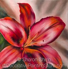 The Decorative Painting Store: My Red Lily Pattern by Sharon Chinn - Choose Format, Newly Added Painting Patterns / e-Patterns
