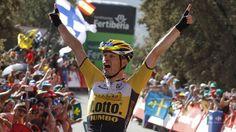 Bert Jan Lindeman wins Stage 7 - La Vuelta 2015