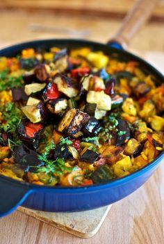 Arroz de verduras asadas