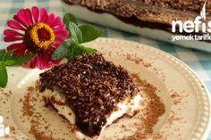 Brownie Pasta Tarifi – Pişmeyen nefis bir pasta – Nefis Yemek Tarifleri Tatlı tarifleri – The Most Practical and Easy Recipes Homemade Beauty Products, Nutella, Tiramisu, Tart, Food And Drink, Pudding, Cooking, Ethnic Recipes, Desserts