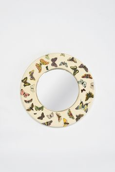 Piero Fornasetti; Lacquered and Lithographed Wood and Glass Wall Mirror, 1960s
