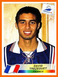 David Trezeguet of France. 1998 World Cup Finals card. Uefa Football, National Football Teams, Good Soccer Players, Football Players, David Trezeguet, Fifa World Cup France, Real Madrid, America Album, 1998 World Cup