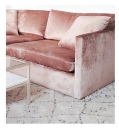Blush, velvet sofa. ☆ Join our Pinterest Fam: @SkinnyMeTea (144k+) ☆ Oh, also use our code 'Pinterest10' for 10% off your next teatox ♡