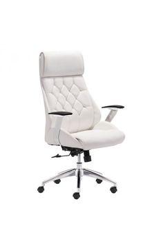 Model : Zuo Boutique (White) Model 205891 Brand Zuo Color White Cover  Leatherette Chair