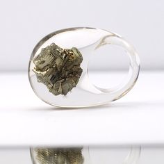 Unique Pyrite Ring Classic Clear Resin Ring with by sisicata