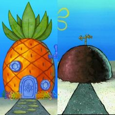 Would you rather live in spongebob's house or patricks Tap to vote http://sms.wishbo.ne/U1ak/idOEkwm9pF
