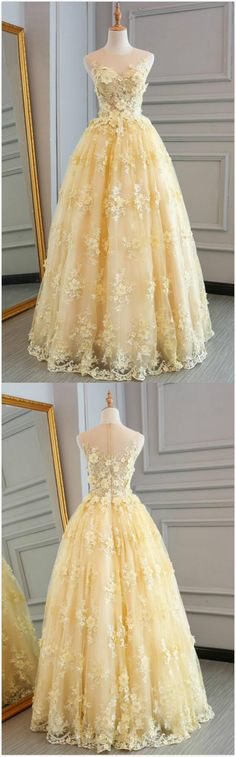 Scoop Neck/Illusion Neck Prom Dress,A-line Princess Prom Dress,Cheap