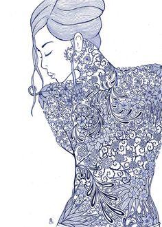 La femme -  2013 by Marica Zottino, via Behance
