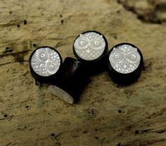 Real gauge,Natural sono wood,shell ,hand made,tribal,plugs,8mm,9mm,10mm,11mm,,organic on Etsy, $24.99