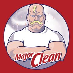 """""""Major Clean"""" by Merimeaux is $10 today at ShirtPunch.com (02/18). #tshirt #MrClean #FullMetalAlchemist #Armstrong"""